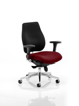 Picture of Office Chair Company Chiro Plus Bespoke Colour Seat Chilli