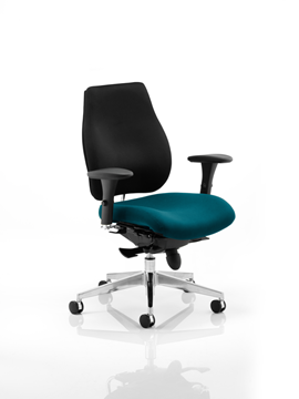 Picture of Office Chair Company Chiro Plus Bespoke Colour Seat Kingfisher