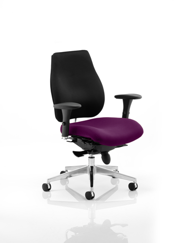 Picture of Office Chair Company Chiro Plus Bespoke Colour Seat Purple