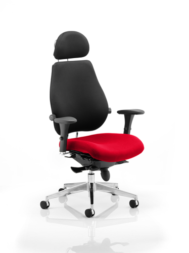 Picture of Office Chair Company Chiro Plus Ultimate With Headrest Bespoke Colour Seat Cherry