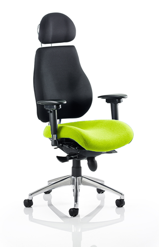 Picture of Office Chair Company Chiro Plus Ultimate With Headrest Bespoke Colour Seat Swizzle