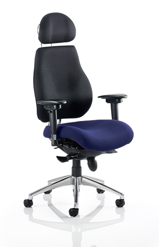 Picture of Office Chair Company Chiro Plus Ultimate With Headrest Bespoke Colour Seat Serene