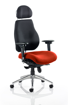Picture of Office Chair Company Chiro Plus Ultimate With Headrest Bespoke Colour Seat Pimento