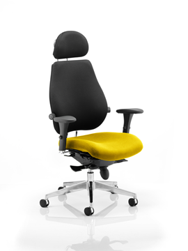 Picture of Office Chair Company Chiro Plus Ultimate With Headrest Bespoke Colour Seat Sunset