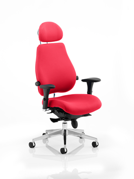 Picture of Office Chair Company Chiro Plus Ultimate With Headrest Bespoke Colour Cherry