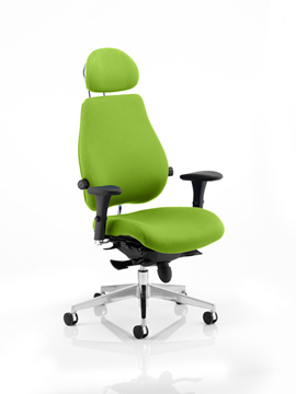 Picture of Office Chair Company Chiro Plus Ultimate With Headrest Bespoke Colour Swizzle
