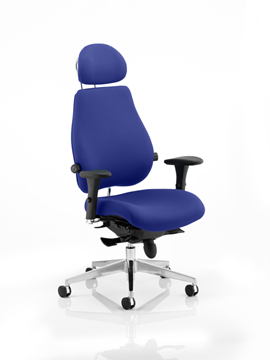 Picture of Office Chair Company Chiro Plus Ultimate With Headrest Bespoke Colour Serene
