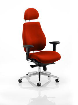 Picture of Office Chair Company Chiro Plus Ultimate With Headrest Bespoke Colour Pimento