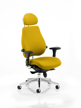 Picture of Office Chair Company Chiro Plus Ultimate With Headrest Bespoke Colour Sunset