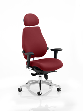Picture of Office Chair Company Chiro Plus Ultimate With Headrest Bespoke Colour Chilli