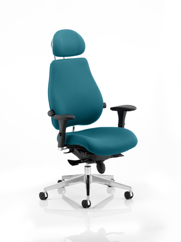 Picture of Office Chair Company Chiro Plus Ultimate With Headrest Bespoke Colour Kingfisher
