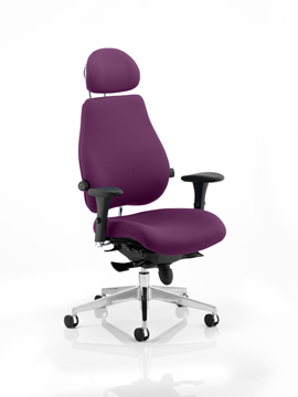 Picture of Office Chair Company Chiro Plus Ultimate With Headrest Bespoke Colour Purple