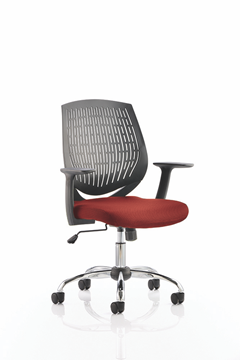 Picture of Office Chair Company Dura Bespoke Colour Seat Chilli