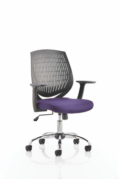 Picture of Office Chair Company Dura Bespoke Colour Seat Purple