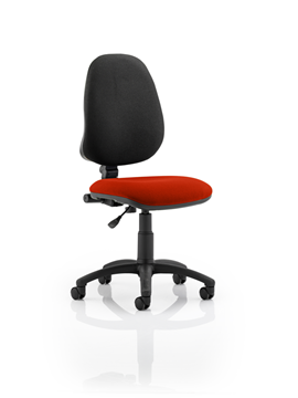 Picture of Office Chair Company Eclipse I Lever Task Operator Chair Bespoke Colour Seat Pimento