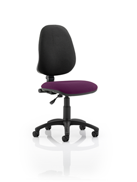 Picture of Office Chair Company Eclipse I Lever Task Operator Chair Bespoke Colour Seat Purple