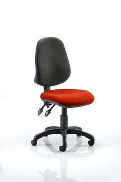 Picture of Office Chair Company Eclipse II Lever Task Operator Chair Bespoke Colour Seat Pimento