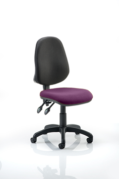 Picture of Office Chair Company Eclipse II Lever Task Operator Chair Bespoke Colour Seat Purple