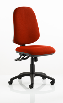 Picture of Office Chair Company Eclipse XL III Lever Task Operator Chair Bespoke Colour Pimento