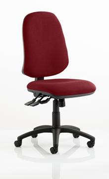 Picture of Office Chair Company Eclipse XL III Lever Task Operator Chair Bespoke Colour Chilli