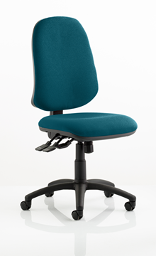 Picture of Office Chair Company Eclipse XL III Lever Task Operator Chair Bespoke Colour Kingfisher