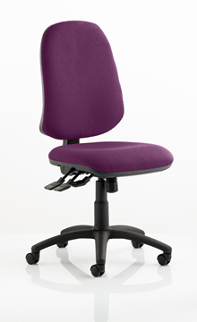 Picture of Office Chair Company Eclipse XL III Lever Task Operator Chair Bespoke Colour Purple