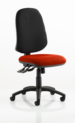 Picture of Office Chair Company Eclipse XL III Lever Task Operator Chair Bespoke Colour Seat Pimento