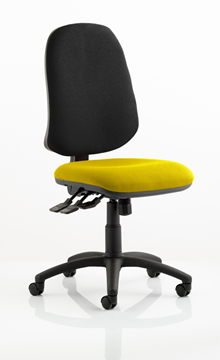 Picture of Office Chair Company Eclipse XL III Lever Task Operator Chair Bespoke Colour Seat Sunset
