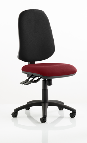 Picture of Office Chair Company Eclipse XL III Lever Task Operator Chair Bespoke Colour Seat Chilli