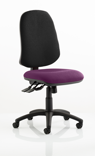 Picture of Office Chair Company Eclipse XL III Lever Task Operator Chair Bespoke Colour Seat Purple
