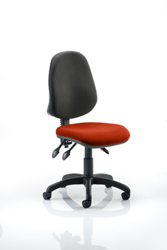 Picture of Office Chair Company Eclipse III Lever Task Operator Chair Bespoke Colour Seat Pimento