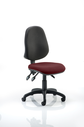 Picture of Office Chair Company Eclipse III Lever Task Operator Chair Bespoke Colour Seat Chilli