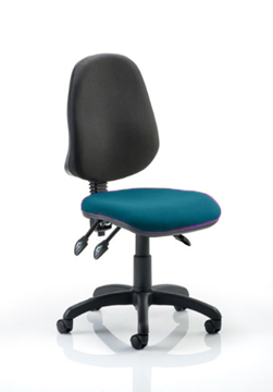 Picture of Office Chair Company Eclipse III Lever Task Operator Chair Bespoke Colour Seat Kingfisher