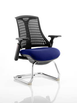 Picture of Office Chair Company Flex Task Operator Chair Black Frame Black Back Cantilever Bespoke Colour Seat Serene