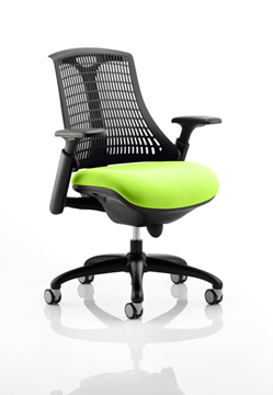 Picture of Office Chair Company Flex Task Operator Chair Black Frame Black Back Bespoke Colour Seat Swizzle