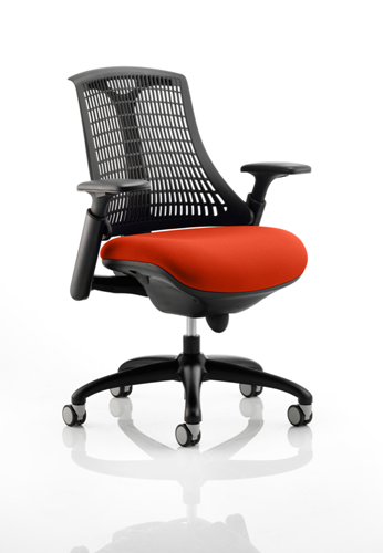 Picture of Office Chair Company Flex Task Operator Chair Black Frame Black Back Bespoke Colour Seat Pimento