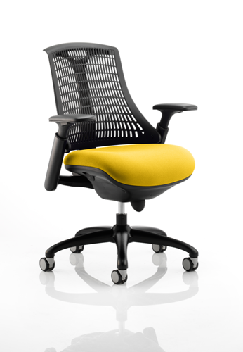 Picture of Office Chair Company Flex Task Operator Chair Black Frame Black Back Bespoke Colour Seat Sunset