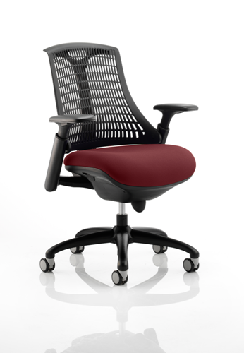 Picture of Office Chair Company Flex Task Operator Chair Black Frame Black Back Bespoke Colour Seat Chilli