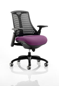 Picture of Office Chair Company Flex Task Operator Chair Black Frame Black Back Bespoke Colour Seat Purple