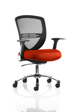 Picture of Office Chair Company Iris Bespoke Colour Seat Pimento