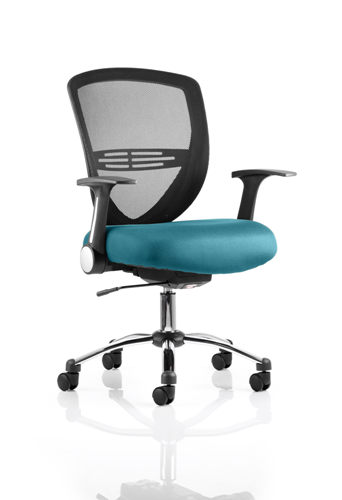 Picture of Office Chair Company Iris Bespoke Colour Seat Kingfisher