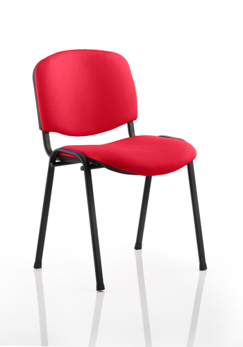 Picture of Office Chair Company Iso Black Frame Bespoke Colour Fabric - (Min Order Qty X 4) Cherry