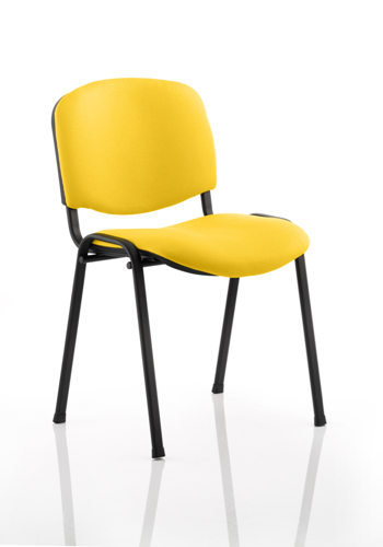 Picture of Office Chair Company Iso Black Frame Bespoke Colour Fabric - (Min Order Qty X 4) Sunset
