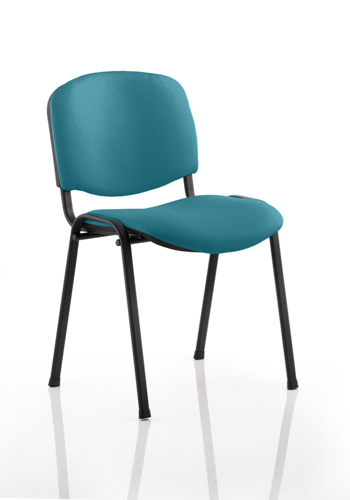 Picture of Office Chair Company Iso Black Frame Bespoke Colour Fabric - (Min Order Qty X 4) Kingfisher
