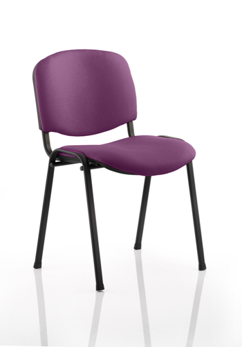 Picture of Office Chair Company Iso Black Frame Bespoke Colour Fabric - (Min Order Qty X 4) Purple