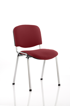 Picture of Office Chair Company Iso Chrome Frame Bespoke Colour Fabric - (Min Order Qty X 4) Chilli