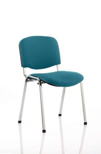 Picture of Office Chair Company Iso Chrome Frame Bespoke Colour Fabric - (Min Order Qty X 4) Kingfisher