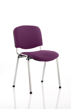 Picture of Office Chair Company Iso Chrome Frame Bespoke Colour Fabric - (Min Order Qty X 4) Purple