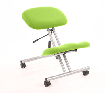 Picture of Office Chair Company Kneeling Stool Silver Frame Bespoke Colour Swizzle