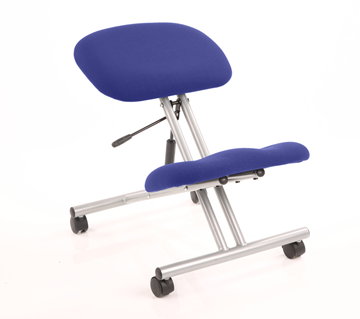 Picture of Office Chair Company Kneeling Stool Silver Frame Bespoke Colour Serene